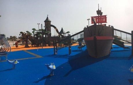 פארק הפיראטים באשדוד בחוף מי עמי