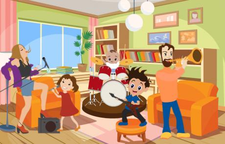 familly band -פאמלי בנד כל המשפחה על הבמה!